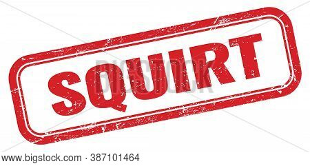 Squirt Red Grungy Vintage Rectangle Stamp Sign.