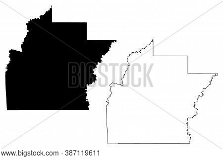 Hinds County, Mississippi (u.s. County, United States Of America, Usa, U.s., Us) Map Vector Illustra