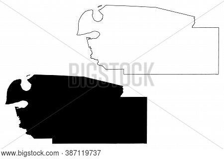 Jefferson County, Mississippi (u.s. County, United States Of America, Usa, U.s., Us) Map Vector Illu