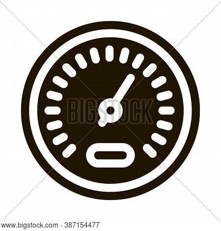 Athlete Speed Indicator Glyph Icon Vector. Athlete Speed Indicator Sign. Isolated Symbol Illustratio