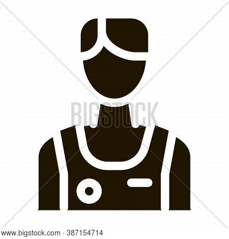 Male Athlete Sportsman Glyph Icon Vector. Male Athlete Sportsman Sign. Isolated Symbol Illustration