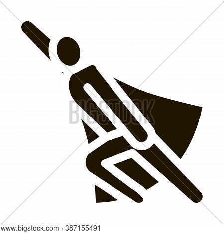 Super Hero Readiness Glyph Icon Vector. Super Hero Readiness Sign. Isolated Symbol Illustration