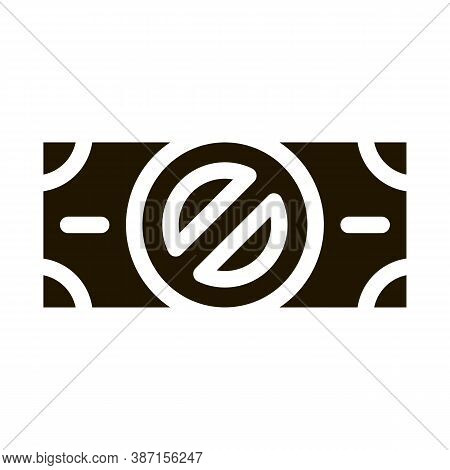 Fake Banknotes Without Logo Glyph Icon Vector. Fake Banknotes Without Logo Sign. Isolated Symbol Ill