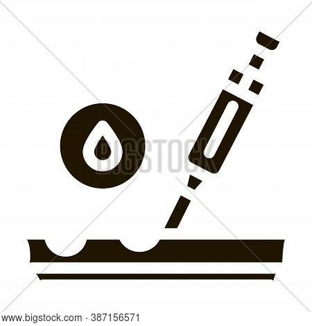 Subcutaneous Injection For Rejuvenation Glyph Icon Vector. Subcutaneous Injection For Rejuvenation S