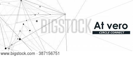 Modern Abstract Design Template On White Backdrop. Modern Vector Design Template. Technology Modern