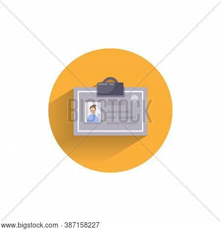 Identification Card Colorful Flat Icon With Shadow. Medicine Identification Card Icon
