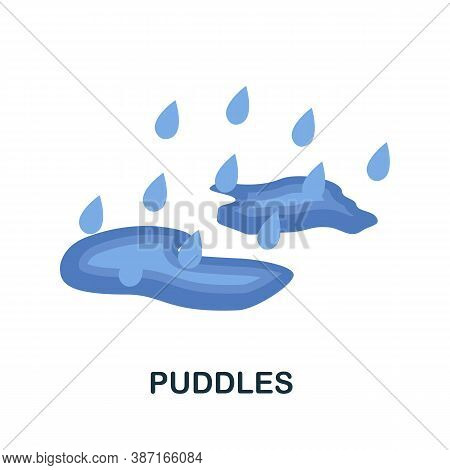 Puddles Icon. Simple Element From Autumn Collection. Creative Puddles Icon For Web Design, Templates