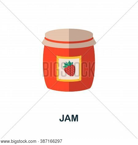 Jam Icon. Simple Element From Autumn Collection. Creative Jam Icon For Web Design, Templates, Infogr