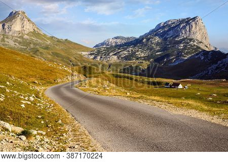 Green Valley Nature Landscape. Country Road Through Village. Countryside Landscape. Countryside. Vil