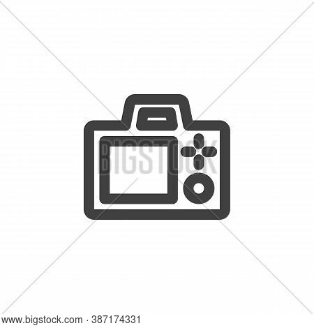 Photo Camera Screen Line Icon. Linear Style Sign For Mobile Concept And Web Design. Camera Viewfinde