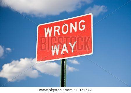 falsche Weg