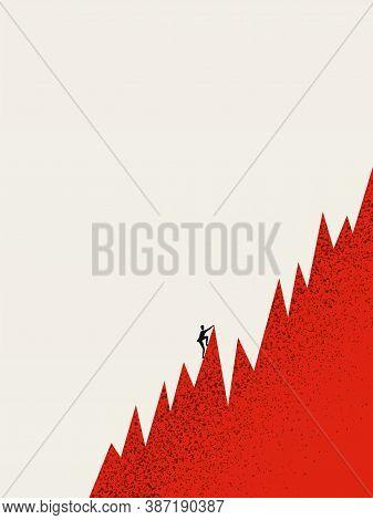 Business Success Vector Concept. Symbol Of Financial Profit, Ambition, Motivation And Achievement.