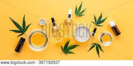 Cbd Oil, Hemp Tincture, Cannabis Cosmetic Product For Skin Care. Alternative Medicine, Pharmaceutica