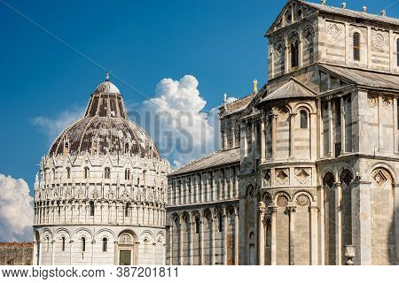 Pisa, Piazza Dei Miracoli (square Of Miracles) With The Cathedral (duomo Di Santa Maria Assunta) And