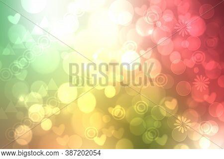 Abstract Fresh Vivid Multicolored Fantasy Rainbow Background Summer Texture With Rainbow Pinwheels,
