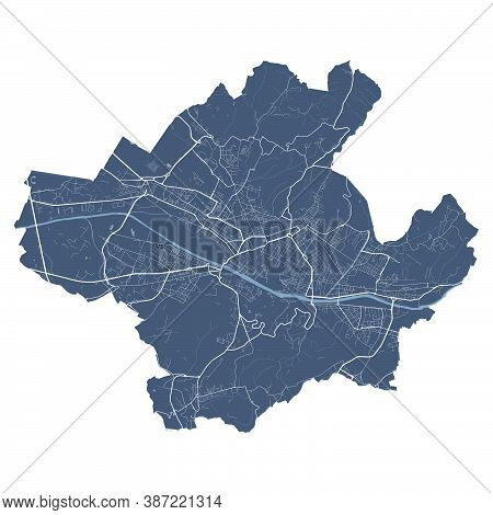 Florence Map. Detailed Vector Map Of Florence City Administrative Area. Cityscape Poster Metropolita