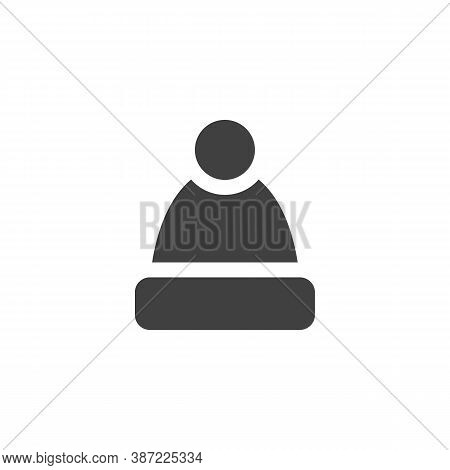 Winter Hat With Pom Pom Vector Icon. Filled Flat Sign For Mobile Concept And Web Design. Beanie Hat