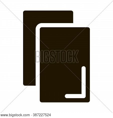 Cards Notice Or Remove Glyph Icon Vector. Cards Notice Or Remove Sign. Isolated Symbol Illustration