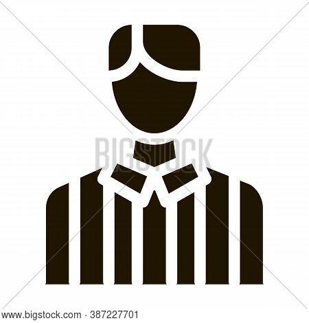 Football Arbitrator Glyph Icon Vector. Football Arbitrator Sign. Isolated Symbol Illustration