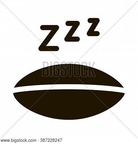 Half Closed Asleep Eye Glyph Icon Vector. Half Closed Asleep Eye Sign. Isolated Symbol Illustration