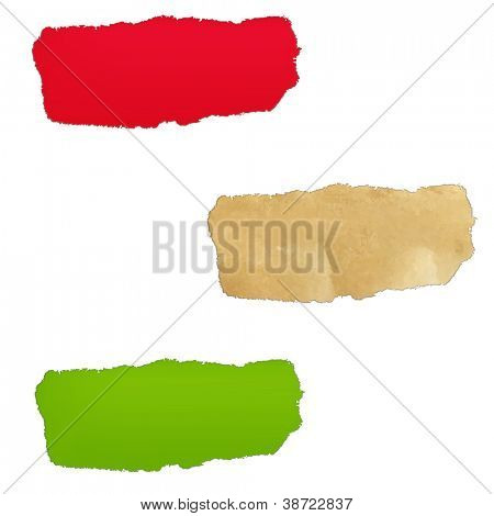3 Color Paper Hole, Isolated On White Background, Vector Illustration