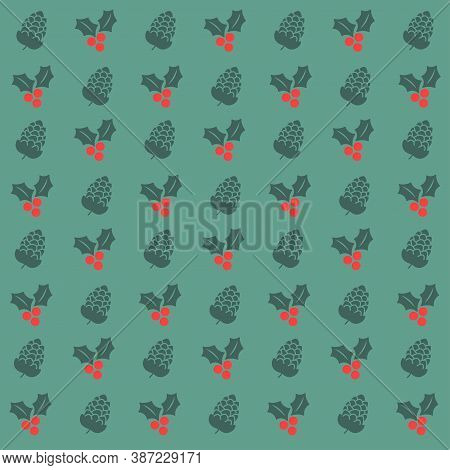 Christmas Background, Christmas Wrapping Paper. Christmas Ornaments, Christmas Mood, Vector Illustra