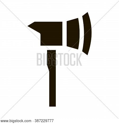 Firefighter Axe Hatchet Glyph Icon Vector. Firefighter Axe Hatchet Sign. Isolated Symbol Illustratio