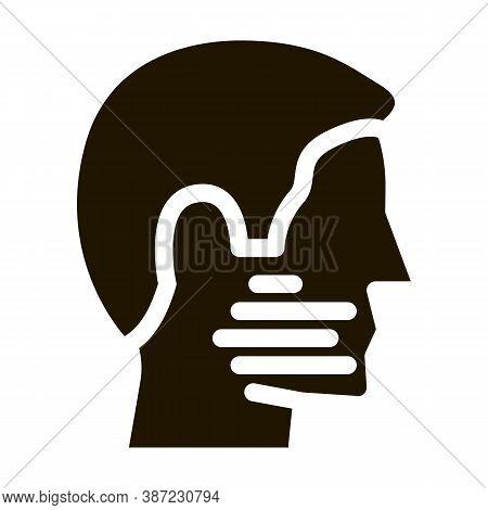 Human Facial Bristle Glyph Icon Vector. Human Facial Bristle Sign. Isolated Symbol Illustration