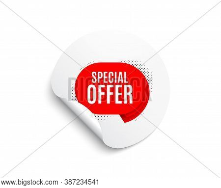 Special Offer Banner. Circle Sticker With Offer Banner. Discount Sticker Shape. Sale Coupon Bubble I