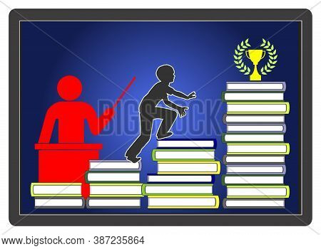 Online Teacher Guides Student. Learning Programs On The Internet For Home Schooling