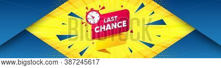 Last Chance Offer Banner. Abstract Background With Offer Message. Sale Timer Tag. Countdown Clock Pr