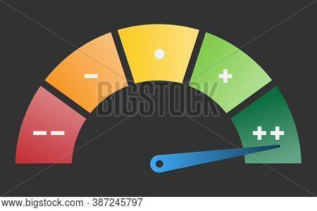 Performance Dial, Speedometer Performance Or Efficiency Rating From Red To Green Vector Illustration