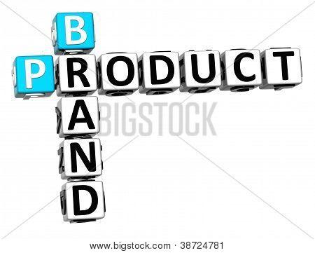 3D Brand Product Crossword