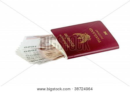 Thai Money And Passport