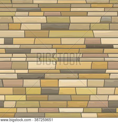 Seamless Texture Of Stonewall. Vector Illustration Of Stone Background.