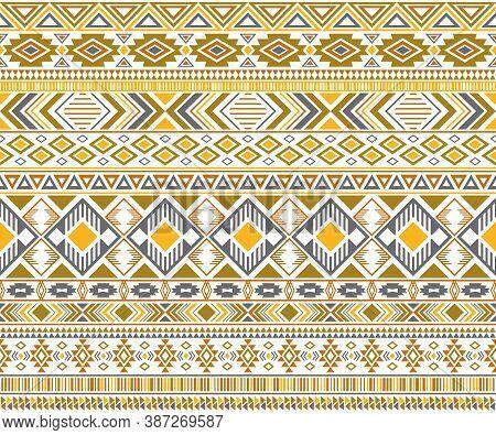 Gypsy Pattern Tribal Ethnic Motifs Geometric Vector Background. Rich Gypsy Tribal Motifs Clothing Fa