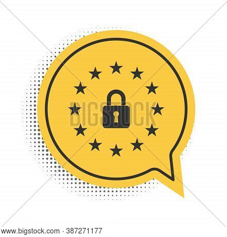 Black Gdpr - General Data Protection Regulation Icon Isolated On White Background. European Union Sy