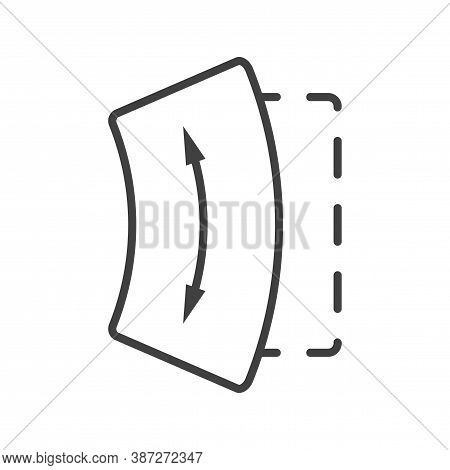 Screen Bend Icon. Modern Concept Of Bending The Screen Of A Mobile Device Or Tablet. Simple Isolated