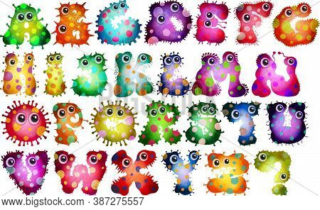 A Colorful And Vibrant Alphabet Germ Collection.