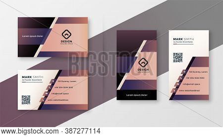 Stylish Geometric Creative Business Card Design Template