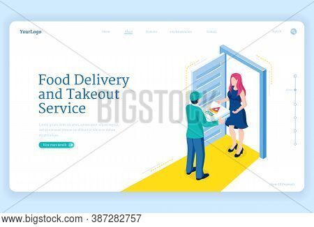 Food Delivery And Takeout Service. Shipping Order From Restaurant, Catering Or Store To House Door.