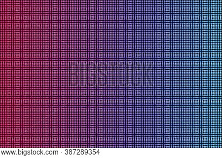 Led Screen Texture. Lcd Panel Pattern. Rgb Screen Dots Seamless Pattern. Analog Display Television.