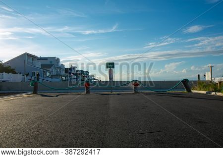 The 15th Ave And Hoffman Street Canal With A Clear Blue Sky Behind In Wildwood New Jersey