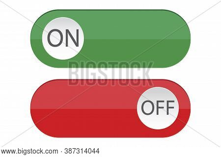 Switch Buttons. Lines Turn On And Off. Control Sliders. Vector Illustration.