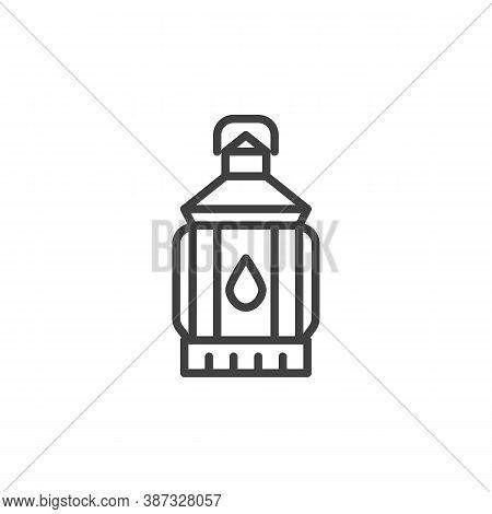 Lantern Lamp Line Icon. Linear Style Sign For Mobile Concept And Web Design. Lantern Light Outline V