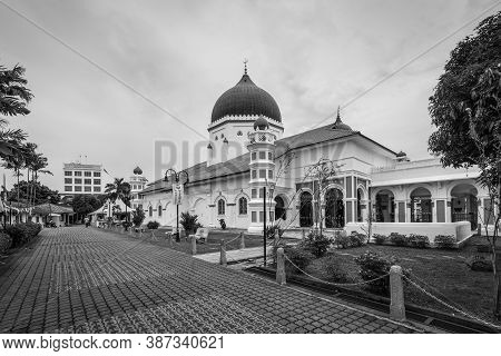 George Town, Penang, Malaysia - December 1, 2019: The Kapitan Keling Mosque Is A Mosque Built In The