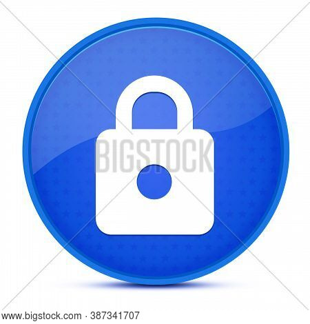 Https Aesthetic Glossy Blue Round Button Abstract Illustration