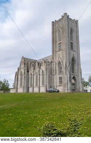 Reykjavik, Iceland - June 19, 2020: Basilika Krists Konungs (the Basilica Of Christ The King).