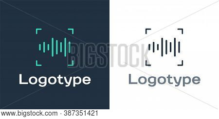 Logotype Voice Recognition Icon Isolated On White Background. Voice Biometric Access Authentication
