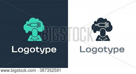 Logotype Addiction To The Drug Icon Isolated On White Background. Heroin, Narcotic, Addiction, Illeg